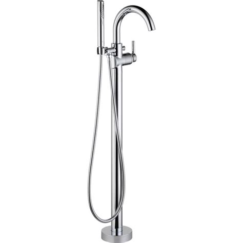 Floor Mount Tub Filler by Delta T4759 Fl Trinsic Floor Mount Free Standing Tub