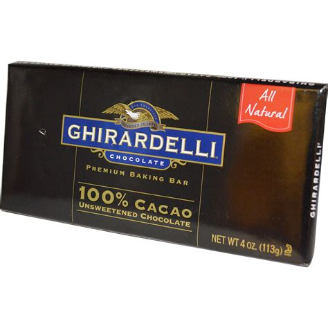 Top 100 Chocolate Bars by Ghirardelli Premium Baking Bar 100 Cacao Unsweetened