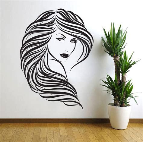 Hair Salon Wall Decor hair salon wall decal decor curly hair vinyl