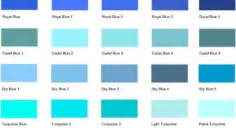 light blue l shade different shades of blue a list with color names and