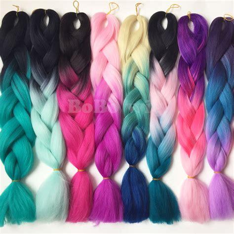 ombre kanekalon braiding hair 1piece 24 quot ombre kanekalon braiding hair two tone