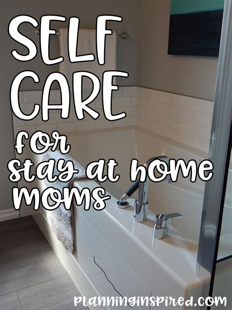 self care for stay at home planning inspired