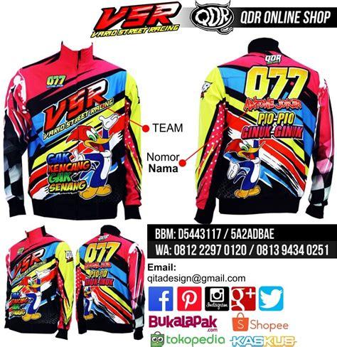Jersey Drag Race Dkh jaket motor racing vsr bahan lotto printing