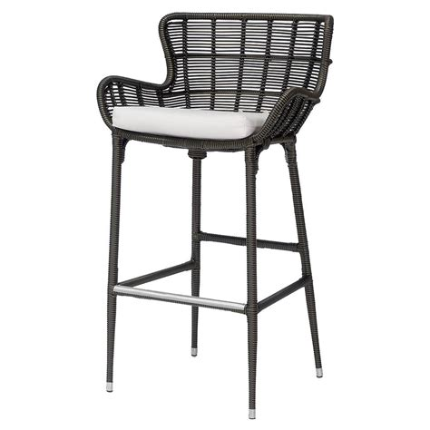 Modern Outdoor Counter Stools by Palecek Palermo Modern Classic Espresso Outdoor Counter Stool