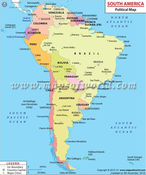 south america map directions south american countries countries in south america