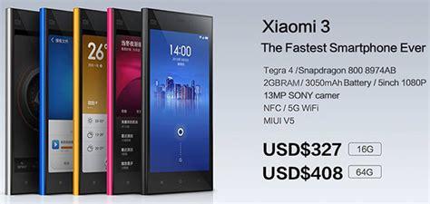 Harga Xiaomi Merk Terbaru spesifikasi dan harga xiaomi mi 3 terbaru infonewbi