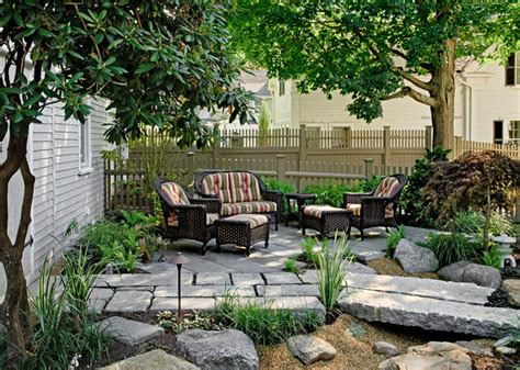pocket garden traditional patio portland maine by charles c hugo landscape design