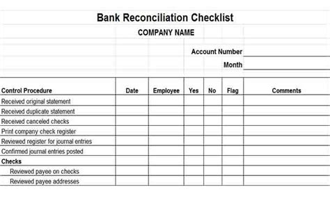 business bank reconciliation template financial reporting controls vitalics