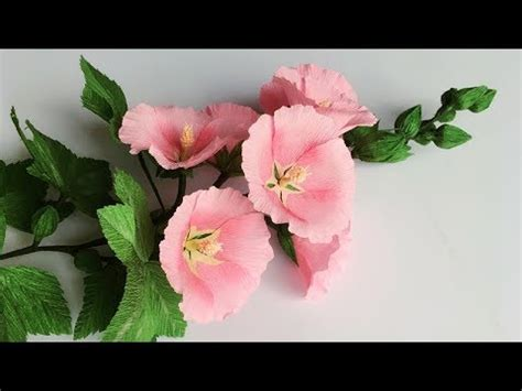 crepe paper flower tutorial youtube abc tv how to make hollyhock paper flower from crepe