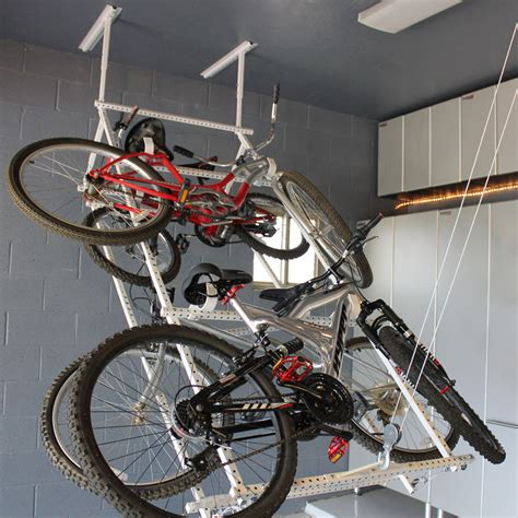 Garage Ceiling Bike Rack by Powerrax Motorized Garage Overhead Storage Powerrax