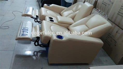 reclining with light up cup holders 2015 import genuine leather recliner sofa set ls805 with