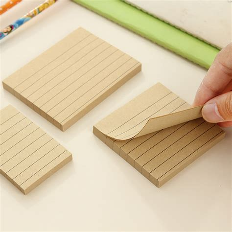 How To Make Paper Pads - 80 pages kraft paper memo pad kawaii stationery office