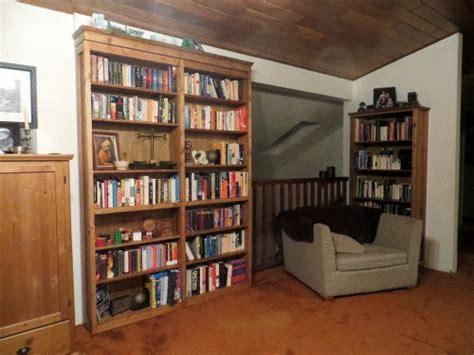 folding secret door bookcase man  diy