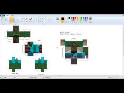 How To Make Papercraft Minecraft - how to make mini minecraft papercraft charater