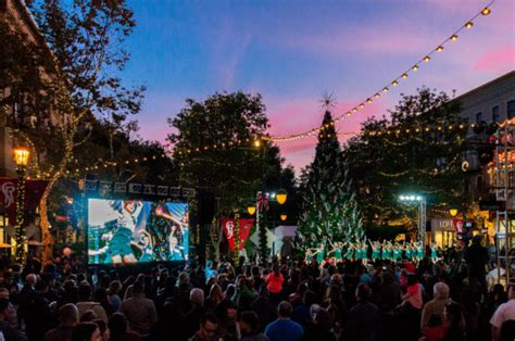 2017 santana row 40 foot tree lighting live music santa