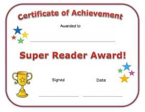 View and print your free super reader award certificate