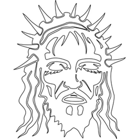 coloring pages jesus crown of thorns christ with crown of thorns coloring page
