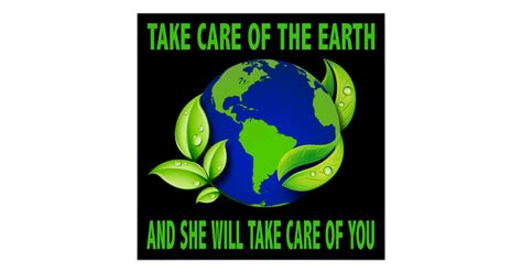 the care of the take care of the earth poster zazzle