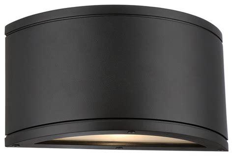 Black Wall Sconces Indoor Led Indoor Or Outdoor Half Cylinder Wall Light
