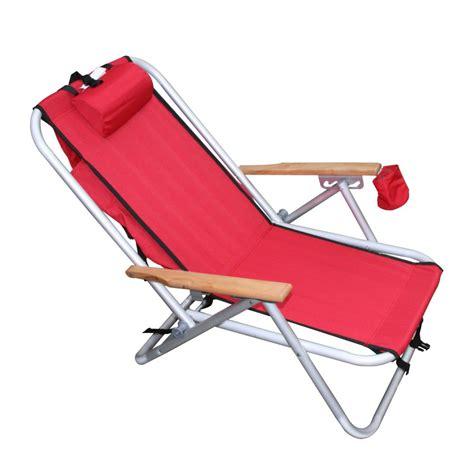 low reclining beach chair wearever backpak chair red beachkit