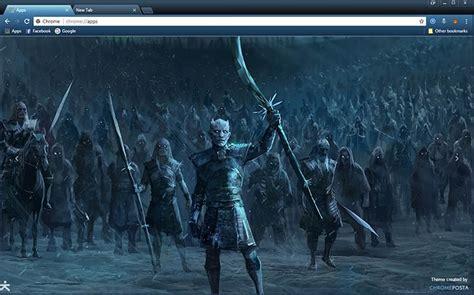 Game of Thrones White Walkers Chrome Theme   ChromePosta