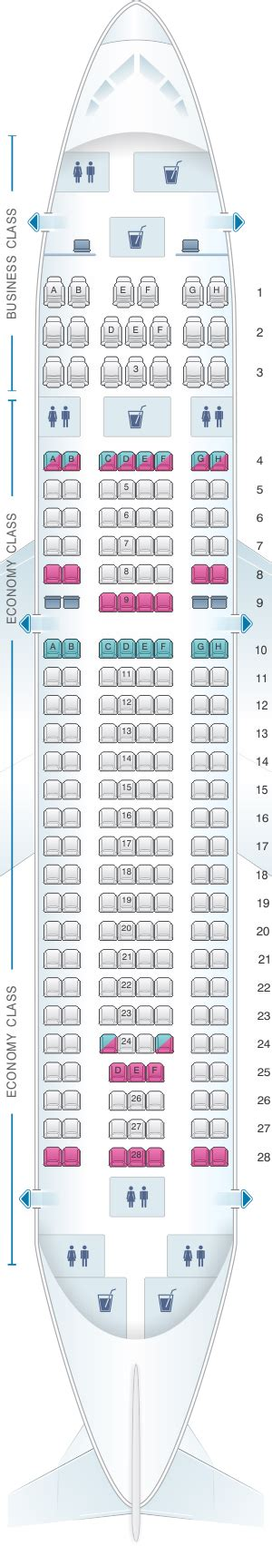 airbus a310 300 seating seat map tarom airbus a310 326 209pax seatmaestro