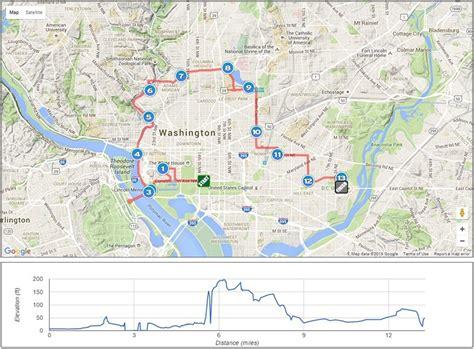 washington dc map my run best half marathons in washington d c runner s review