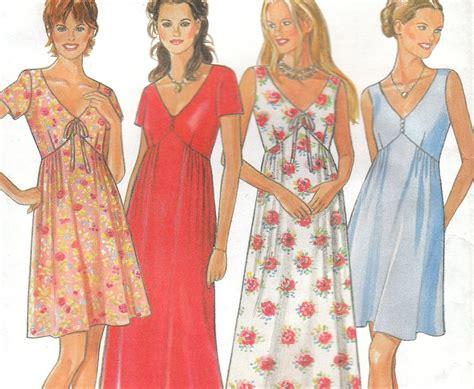 free pattern empire waist dress empire waist summer dress pattern new look size 8 18 uncut