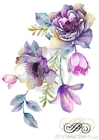 colorful flower tattoos designs royalty free images no antique water coler purple flower clipart clipground