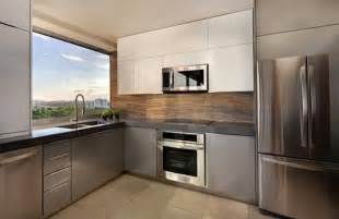 Small Modern Kitchen Interior Design by Houzz Modern Luxury Apartment Kitchen Decobizz Com