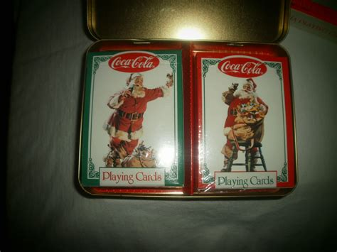 Coca Cola Card Gift Tin by 1994 Coca Cola Cards In Tin Cards