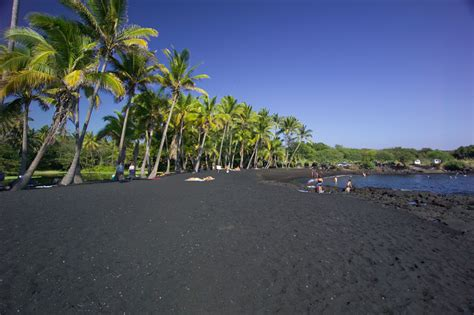 picture photo black sand beach at punaluu big island best beaches on the big island