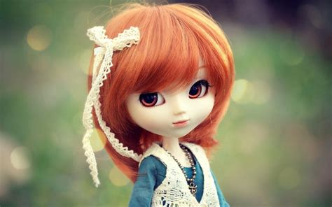 wallpaper 3d doll cute red hair pretty doll beautiful wallpapers hd