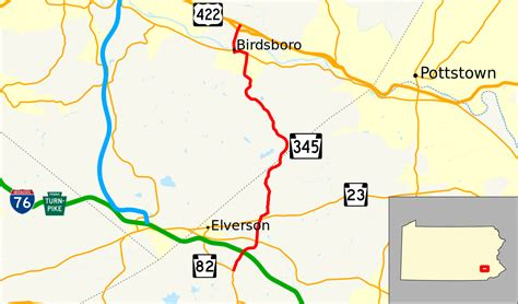 file pennsylvania route 345 map svg wikimedia commons