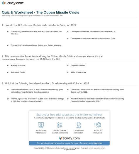 Cuban Missile Crisis Worksheet by Worksheets Cuban Missile Crisis Worksheet Opossumsoft