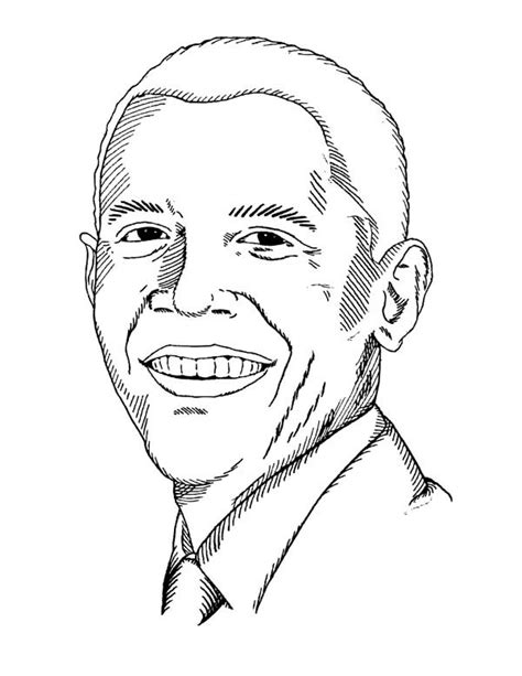 free printable coloring pages president barack obama free