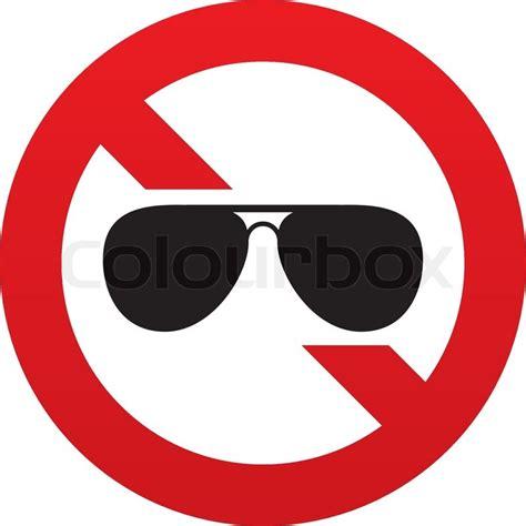 no aviator sunglasses sign icon pilot glasses button red
