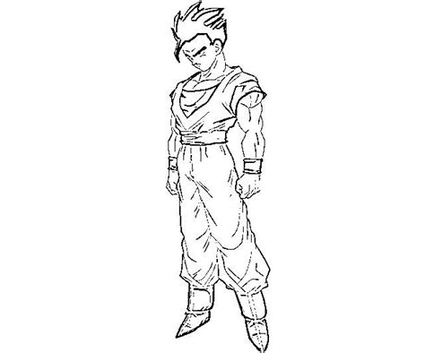 cool dragon ball z coloring pages gohan coloring pages bebo pandco