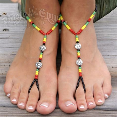 how to make foot jewelry with rasta barefoot sandals foot jewelry rastaempire
