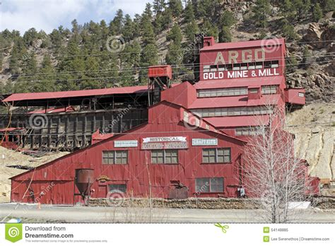 argo gold mine and mill historical argo gold mine and mill editorial image image