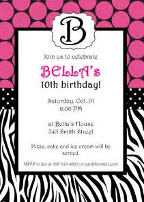 template birthday invitation zebra birthday invitations template best template collection