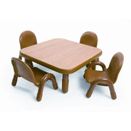angeles square baseline toddler table  chair set  natural walmartcom
