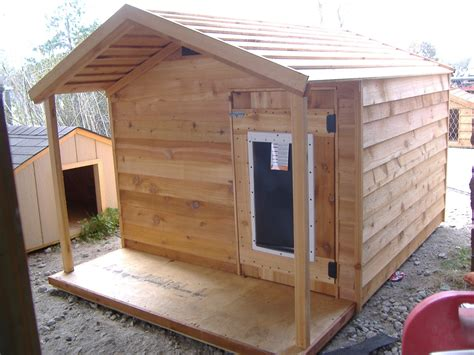 large heated dog house extra large ac dog house