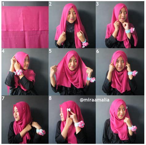 foto tutorial hijab modern segi empat foto tutorial hijab modern segi empat blog jilbab cantik