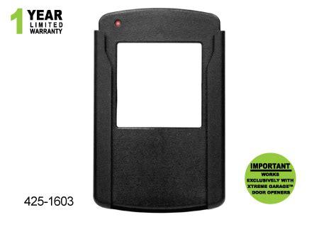 425 1603 Single Button Remote Xtreme Garage Door Opener Manual