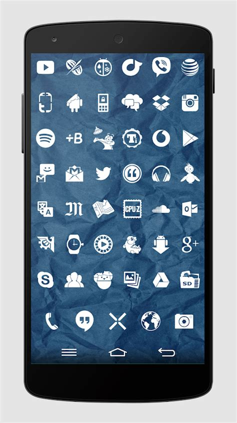 play store themes android whicons white icon pack android apps on google play