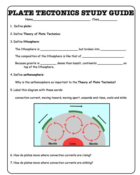 Plate Tectonics Worksheets For Middle School by Plate Tectonics Worksheets For Middle School Pdf