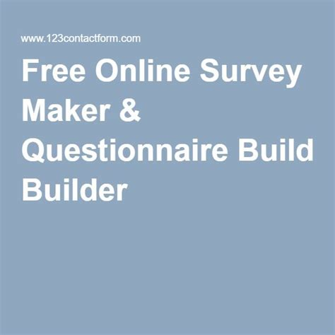 Free Online Survey Maker - 25 best ideas about questionnaire maker on pinterest kids birthday questions