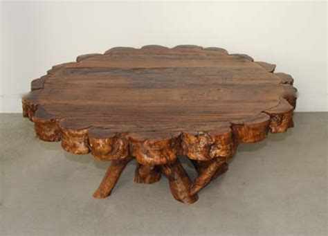 Coffee Tables Made From Trees How To Make A Table From A Tree Log