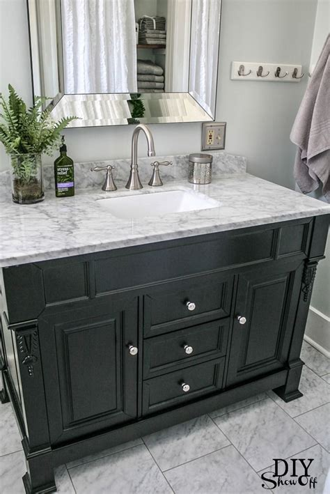 Bathrooms With Black Vanities Best 25 Black Bathroom Vanities Ideas On Black Cabinets Bathroom Bathroom Cabinets